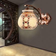 chinese ceramic modern sconce wall lights 110v 220v led living