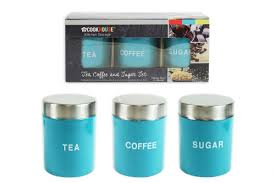 kitchen storage canister canister set 3pcs tea coffee sugar kitchen storage stainless steel
