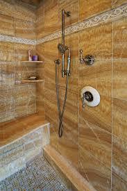 photos hgtv brown tiled shower with built in bench loversiq