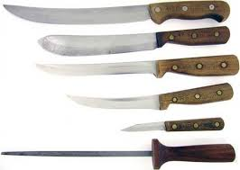 chicago cutlery kitchen knives xx antique 8 steak knife set of pearl w leather box