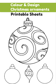 blank ornament worksheet printable ornaments