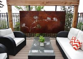 outdoor home decor outdoor metal art best 17 steel outdoor wall art awesome large