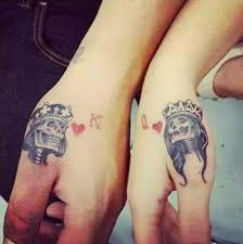 tattoo couple king and queen 1000 ideas about king queen tattoo on pinterest queen tattoo