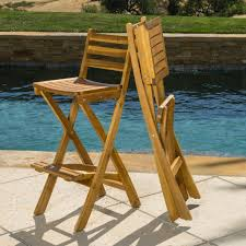 Atlantic Outdoor Furniture by Atlantic Outdoor Folding Wood Bar Stools Set Of 2 Great Deal