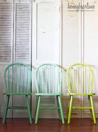 Colorful Dining Room Sets by Ombre Windsor Chairs Honeybear Lane