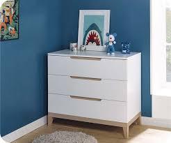 commode chambre garcon chambre enfant riga blanche et bois set de 4 meubles
