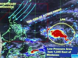 bureau vall agathon low pressure area enters the par jan 1 2 landfall predicted