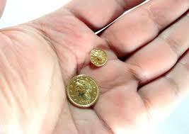 arras boda arra en oro de 18k 1 moneda pequeña arras matrimonio boda