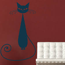 house cat wall stickers iconwallstickers siamese cat cartoon feline house cats wall stickers pets home decor art decals