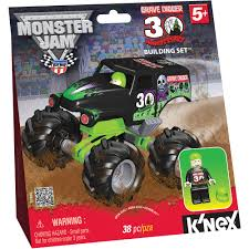 rc monster truck grave digger k u0027nex monster jam special edition grave digger building set