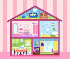 Wohnzimmer M El F Puppenhaus Puppen Lizenzfreie Vektorgrafiken Kaufen 123rf