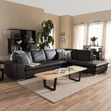 Brown Sectional Sofa With Chaise Larry Dark Brown Sectional Sofa Chaise Set Free Shipping Today