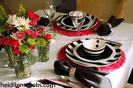 red and black table settings silver wedding anniversary decorating red and black table settings black and white stripe table setting heidikins cooks modern home