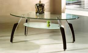 oval shaped coffee table coffee tablesoval shape clear glass finish coffee table large