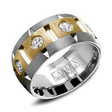 carlex ladies two tone designer ring