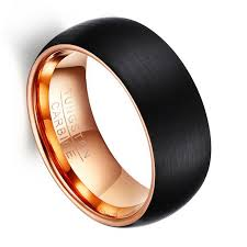 tungsten rings gold images Queenwish tungsten carbide ring 8mm brushed black tungsten domed jpg