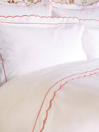 coral scalloped bed linen collection sophie conran shop