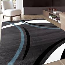 Modern Area Rugs Contemporary Modern Wavy Circles Grey Area Rug Square Greyblue