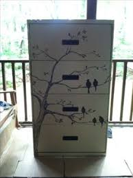 Chalk Paint On Metal Filing Cabinet How To Cover A File Cabinet Using Spray Paint Wallpaper Paste