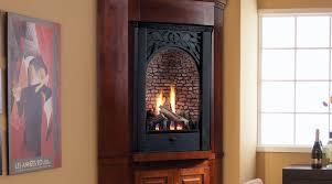 corner ventless gas fireplace insert modern ventless fireplace for