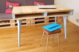 fabriquer un bureau en bois chambre fabriquer bureau en palette meuble bureau industriel et con