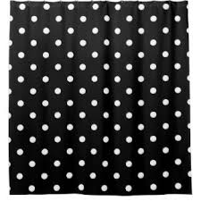 Grey And White Polka Dot Curtains On Black Polka Dots Shower Curtains Zazzle