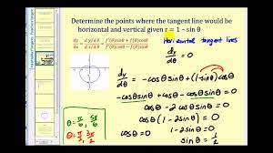horizontal and vertical tangent lines to polar curves
