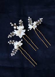 bridal hair pins briar floral bridal hair pins tania maras bespoke