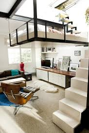staircase suspended bed rooftop interior design ideas