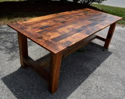reclaimed barn wood table rustic wood etsy