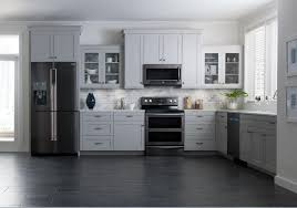 kitchen design white cabinets black appliances rkdwba36 ideas here riverton kitchen design with black