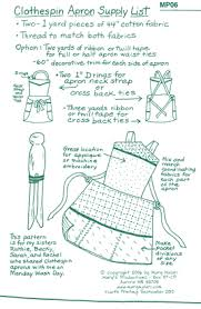 clothespin apron pattern png