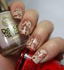 nail art asian landscape silhouette the beauty of nail polish