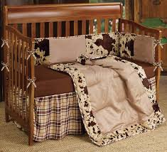 western bedding 4 piece baby cowhide crib bedding set lone star