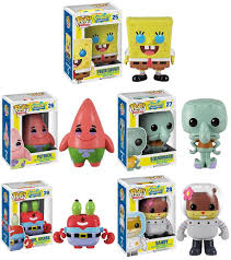 the blot says spongebob squarepants pop vinyl figures by funko