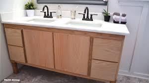 Bathroom Vanities Oak by Build A Diy Bathroom Vanity Part 7 Finishing The Oak Vanity