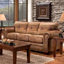 wild horses sofa couch cabin western style lodge rustic western