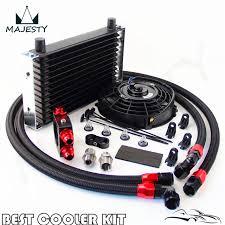 oil cooler fan kit 13 row trust oil cooler thermostat sandwich plate kit 7 electric