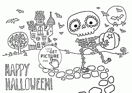 cute skeleton coloring pages for kids halloween printables free