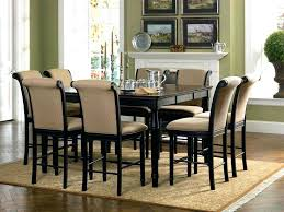 round counter height table set coaster counter height dining table round glass 7 piece set with