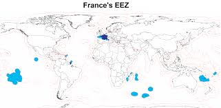 Blank Map Of France by Exclusive Economic Zone Of France U2022 Mapsof Net