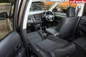 mitsubishi outlander interior mitsubishi outlander 2018 review price features whichcar