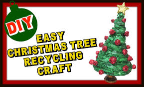 easy newspaper christmas tree recycling craft diy craft klatch