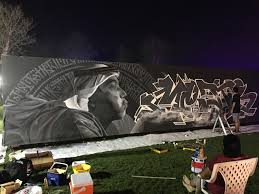 guinness book longest glow in the dark mural by color nomads