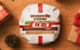 burger wrapping paper burger king whopper exchange london on the inside