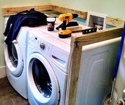 table over washer and dryer diy laundry room countertop over washer dryer wood screws washer