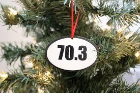 70 3 triathlon ornament great gift for half ironman