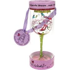wine glass birthday top shelf girls night out strap on your party shoes wine glass