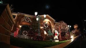 arizona christmas lights palm tree house decorations stock footage