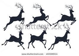 christmas deer running reindeer graphics free vector stock